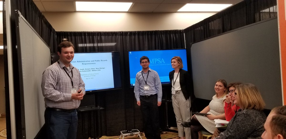 Election Science Students Presenting Research at the 2019 MPSA in Chicago